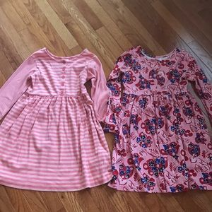 2 Hanna Anderson Cotton Play Dresses Size 130 cm